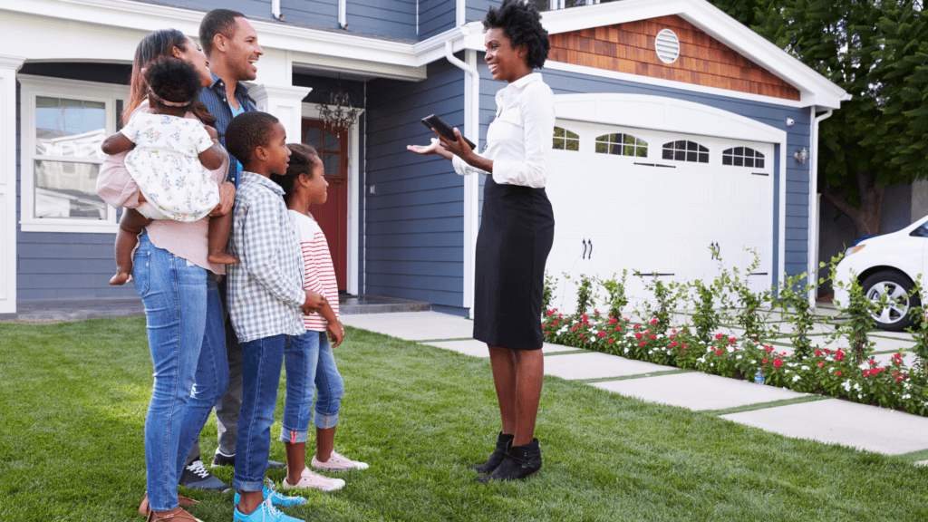 The Ultimate Cheat Real Estate Agent - Real Estate Agent viewing Property with Family