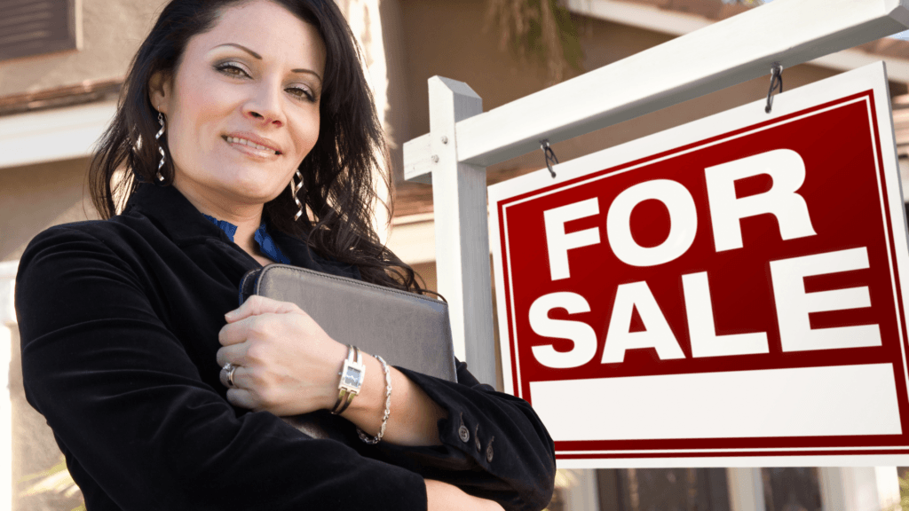 The Ultimate Cheat Real Estate Agent - Real Estate Agent with For Sale Sign board on Property