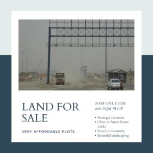 Affordable Land for Sale behind Pan African University Lekki Expressway